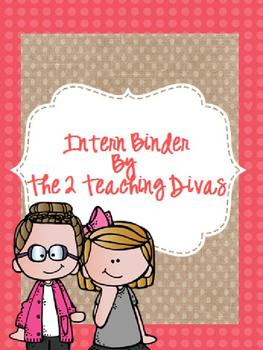 Intern Binder By The 2 Teaching Divas