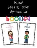Intern/Student Teacher Appreciation Booklet