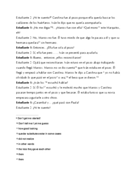 Internado Ep 4: 5 Act- Newspaper Writing assignment, Speaking activity y más