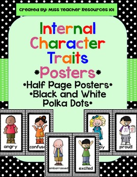 Internal Character Traits - Posters - Black and White Polka Dots
