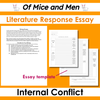 internal conflict in of mice and men literature response essay