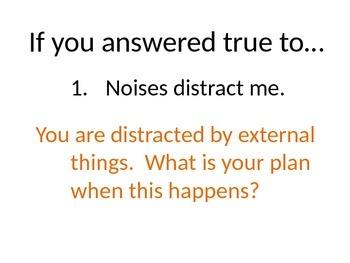 Internal External Distractions Quiz
