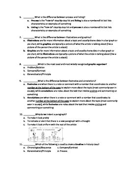 Internal & External Text Structures Quiz
