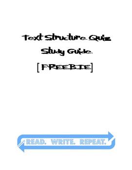 Internal & External Text Structures Quiz Study Guide [FREEBIE]