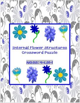 Internal Flower Structures Crossword Puzzle *FREEBIE*