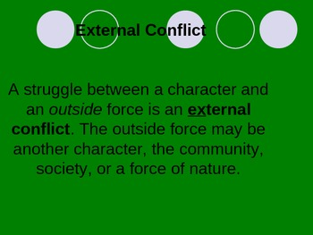 Literary Elements -Internal and External Conflict