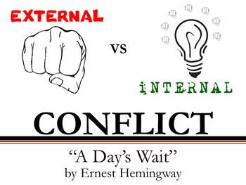 Internal and External Conflict - A Day's Wait