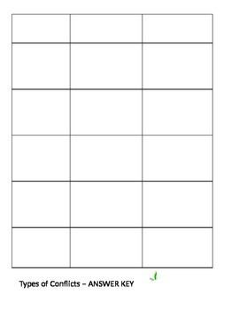 Internal and External Conflict Worksheet and Graphic Organizer by ...