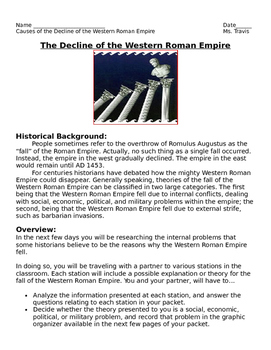 Internal and External Reasons for the Fall of the Western Roman Empire