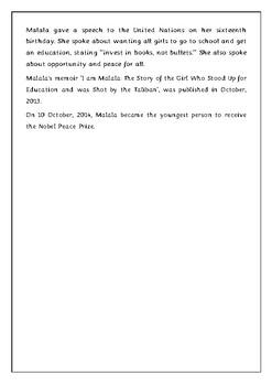 Internationa Woman Day - Malala Yousafzai Biography by ...