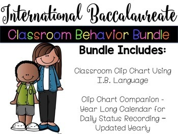 International Baccalaureate Classroom Behavior Bundle