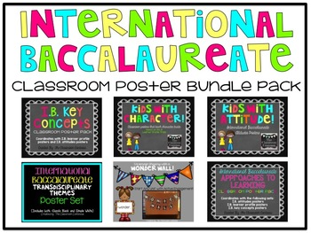 International Baccalaureate Classroom Bundle Set