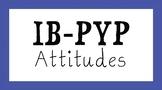 IB PYP Attitudes Signage