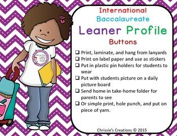 International Baccalaureate IB buttons