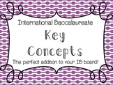 International Baccalaureate Key Concepts