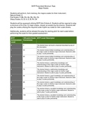 International Baccalaureate MYP Arts Music Assessment - Major Scales