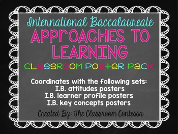 International Baccalaureate Transdisciplinary Skills Posters