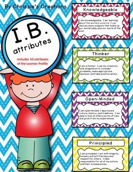 International Baccalaureate: IB Learner profile Attributes Posters