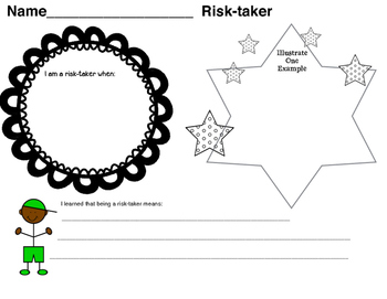 International Baccalaureate: Risk-taker Writing Pages (1st-6th)