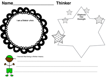 International Baccalaureate: Thinker Writing Pages (1st-6th)