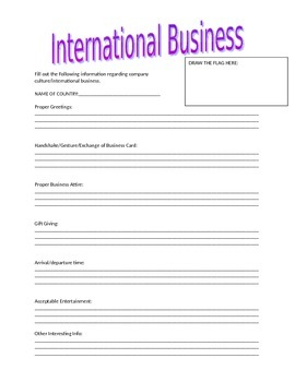 IBT: International Business - Country Research