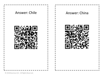 International Business QR Code Scavenger Hunt for Any Business Class
