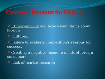 International Business - Success & Failure in the Chinese Market