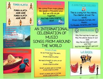 WORLD MUSIC, SONGS FROM AROUND THE WORLD! AN INTERNATIONAL