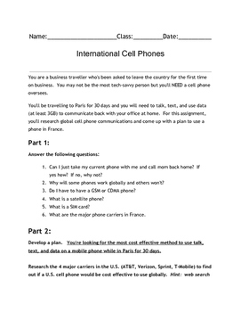 International Cell Phone Investigation Project