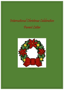 International Christmas Celebration Parent Letter