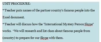 International Classroom Partner Skype Activity