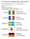 "International Communication Say ""Hello"" in 5 Different Languages"