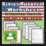 International Conflicts Pt. 1 & Pt 2 Civics Tutorial Worksheet SS.7.C.4.3 EOC