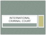 International Criminal Court vs. International Court of Justice
