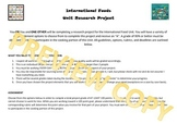 International Cuisine Research Project for FCS Foods, Nutrition and Culinary
