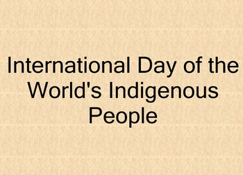International Day of Indigenous People - Australia
