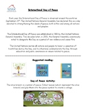 International Day of Peace - activity sheet