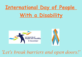 International Day of People With a Disability