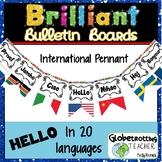 World Flags-Bulletin Board-International Hello Pennant in