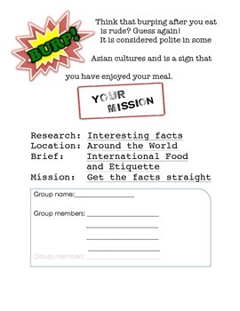 International Food and Etiquette
