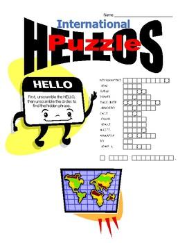 International Hellos Scramble Puzzle