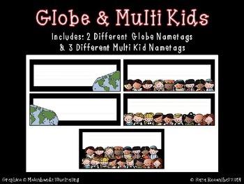 Nametags - International Kids Editable