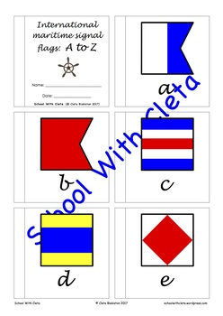 International Maritime Signal Flags Alphabet Mini Booklets With Cursive Writing