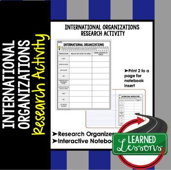 International Organizations Research Graphic Organizer