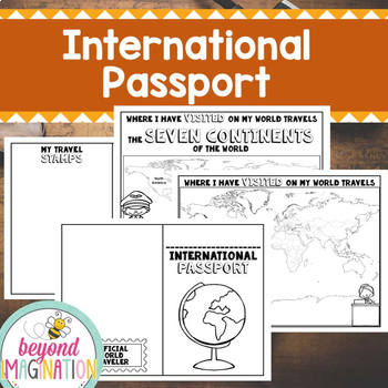 International Passport | Play Passport for Little Learners | Around the World