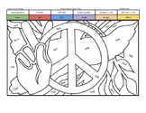 International Peace Day Coloring Page by Multiplication Fact Strategy
