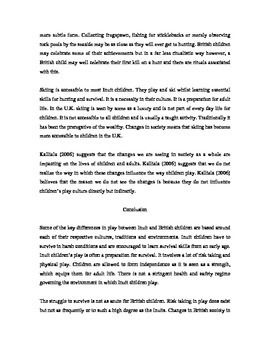 International Perspectives Essay