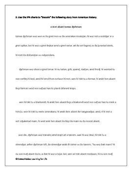 International Phonetic Alphabet (IPA): From Sounds to Stories (Worksheets)