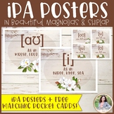 International Phonetic Alphabet Posters: Magnolias & Shipl