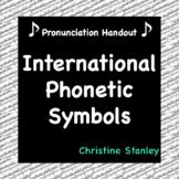 International Phonetic Symbols (IPA)